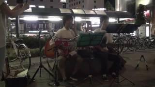 16年8月22日(月)名古屋・金山駅前フォーク路上♪ とんぼちゃん 「ひなげ...