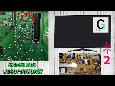 видео: samsung ue40f5500aw диод моргает 2 раза. tv does not turn on. standby led blinks 2 twice fix repair!