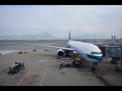 Cathay Pacific Boeing 777-300 CX504 Hong Kong to Tokyo Narita Economy Class Flight Review