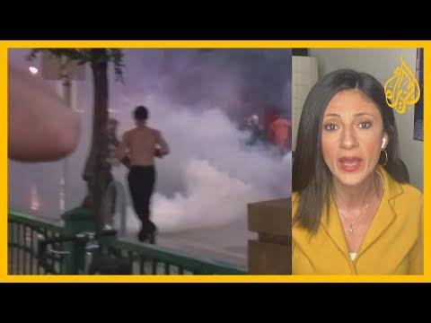 ????تواصل المظاهرات في مدينة مينيابوليس إثر وفاة أمريكي من أصول إفريقية اختناقا أثناء توقيفه  - نشر قبل 3 ساعة