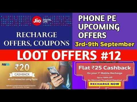 Paytm Rs.20 Cashback||Freecharge ₹75 Promocode For All User||Phone pe Upcoming Offer September 2018