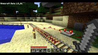 Minecraft: automatic rail brake station
