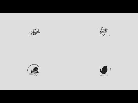 Minimal Drawing Logo | After Effects Template | Logo ...