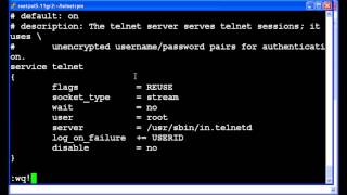 How to configure telnet for root sessions