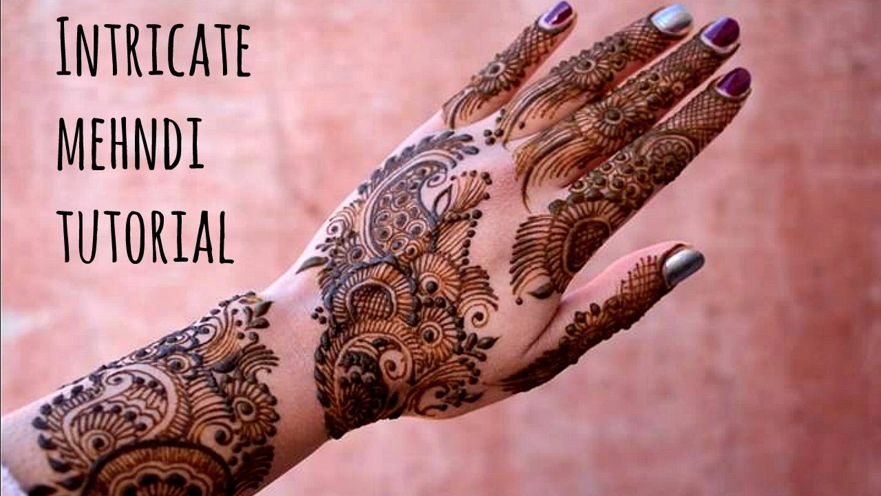 50 intricate henna tattoo designs art and design 50 - How To Create Intricate Mehndi Henna Design Step By Step Tutorial