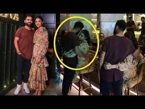 Virat Kohli and Anushka Sharma having lovely cute moment at their dinner date 😍