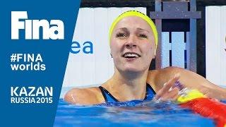 Sarah Sjostrom Beats 100m Butterfly World Record in Kazan