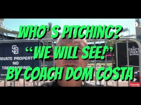 "How To Coach Youth Softball Or Baseball - Who's Pitching? ""We Will See!"" By Coach Dom Costa"