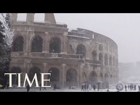 Record Snowfall In Rome: See The Colosseum, Vatican And Trevi Fountain Covered In Snow | TIME