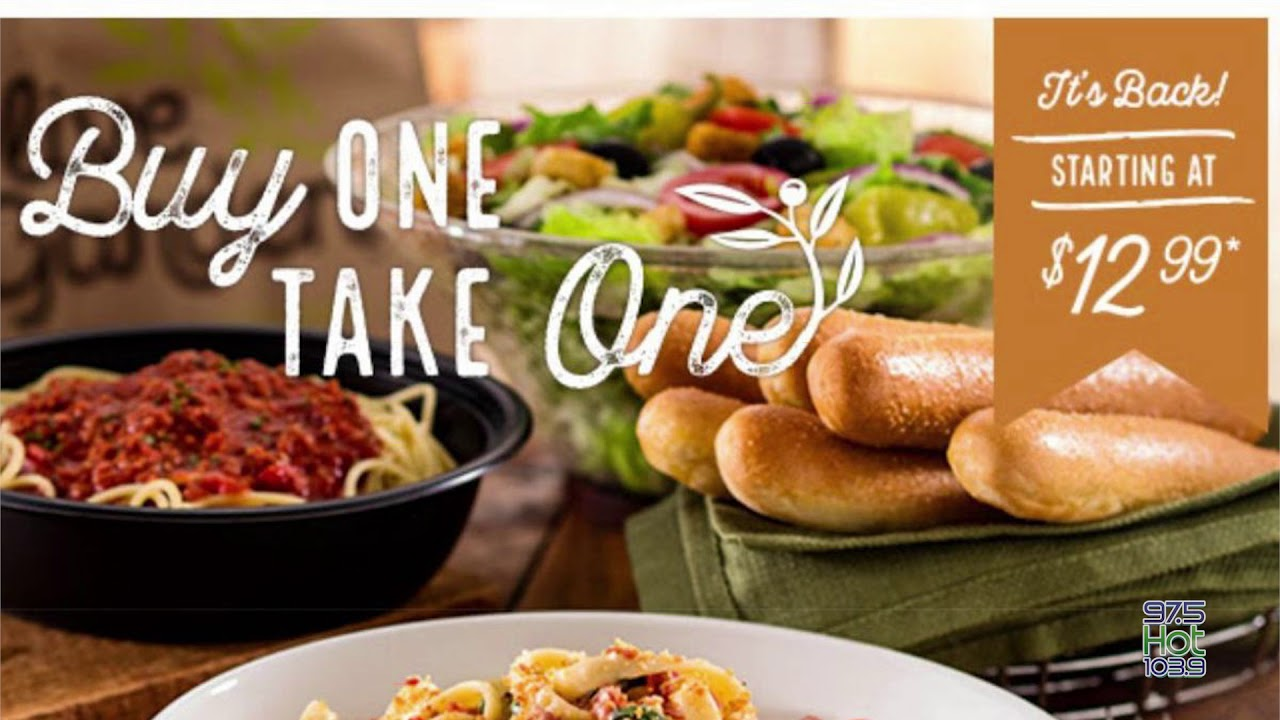 Smasher S Deal Olive Garden Buy One Take One Youtube