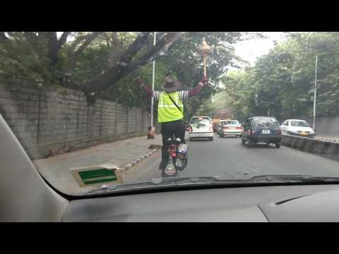 Hanuman ji on bicycle.. Bangalore Times.