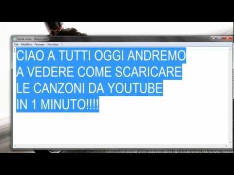 Come scaricare canzoni da youtube GRATIS in un minuto!!