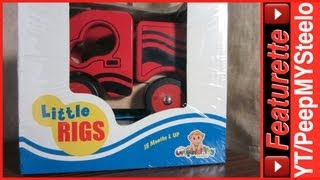 Wooden Toy Fire Truck Emergency Rescue Vehicle For Children For Sale In Red & Black By Little Rigs