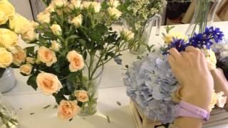 Цветочный ящик с гортензией от интернет магазина цветов