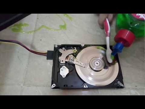 Clean hard drive platter with 100% working