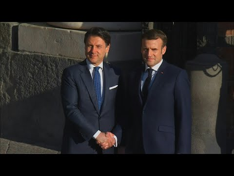 Macron and Conte arrive for France-Italy summit in Naples | AFP