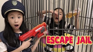 Pretend Play Police LOCKED UP Kaycee in NEW JAIL Playhouse ESCAPE