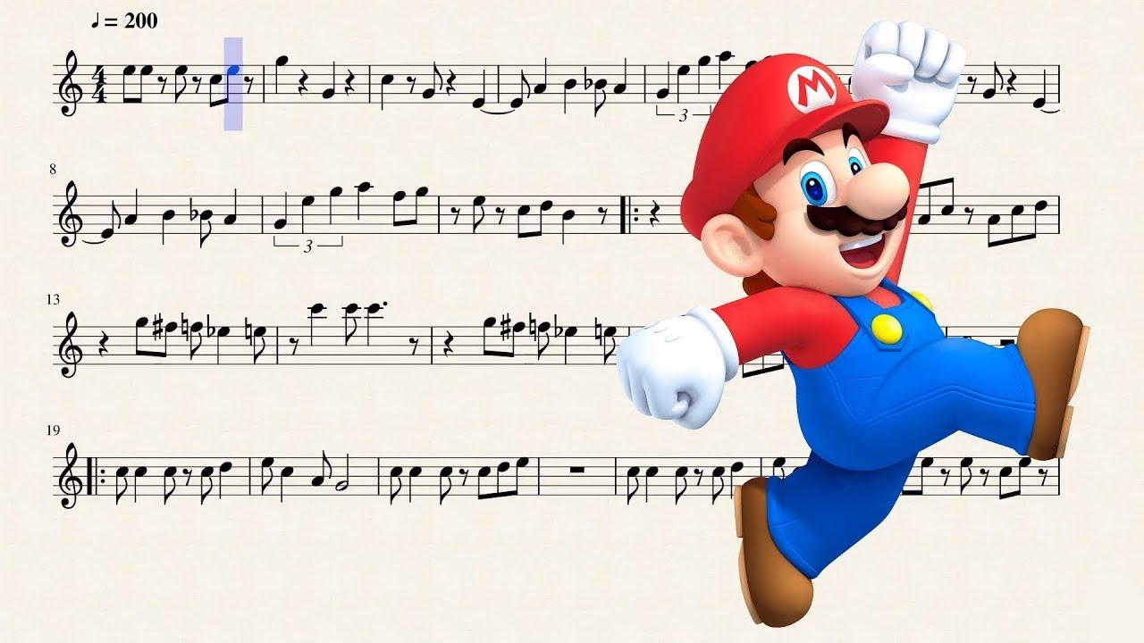 Super Mario Bros Theme for Bb Trumpet