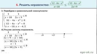 Решение иррациональных неравенств 04