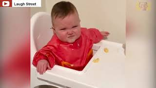 Cutest _babie_ try_ to _#angry:Sweet babie try to laugh ...::funny daddy