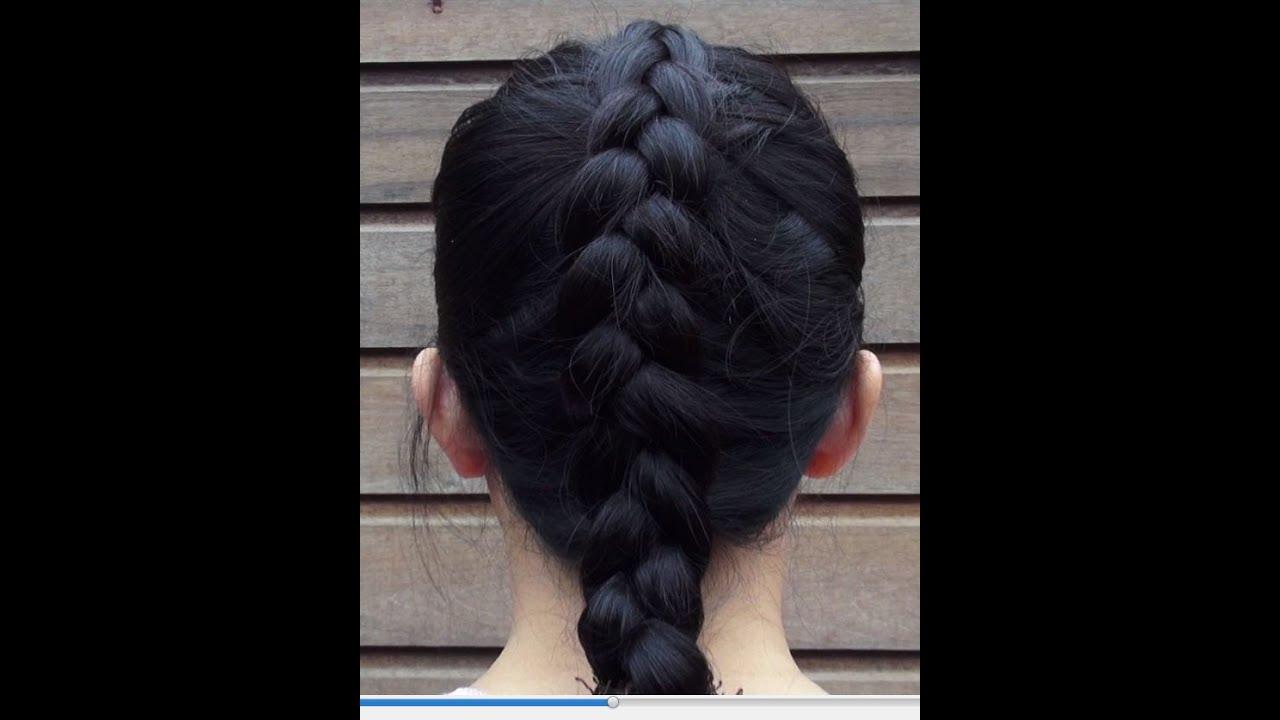 Cara Mengepang Rambut Pendek Wanita Half French Braid