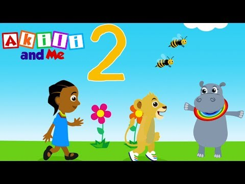 The Number Two Song | Akili and Me | Cartoons for Preschoolers