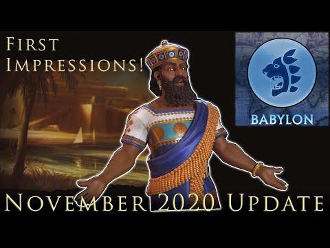 Babylon's Upgrade! Civilization 6 November Update And Babylon First Impression! Civ VI Frontier Pass |