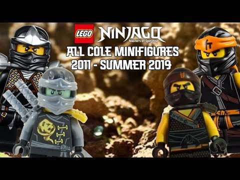 Ninjago Masters of Spinjitzu: All Cole Minifigures (2011 - Summer 2019)
