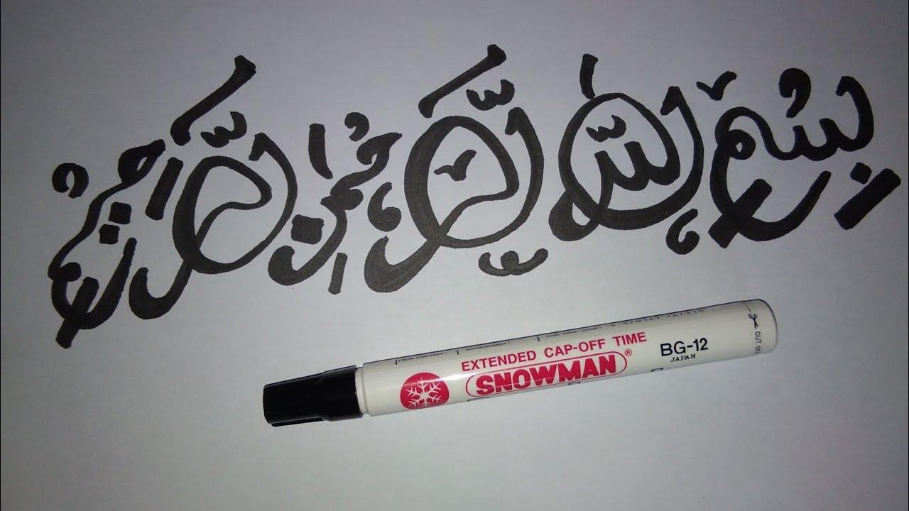 Cara Mengubah Spidol Snowman Menjadi Spidol Kaligrafi