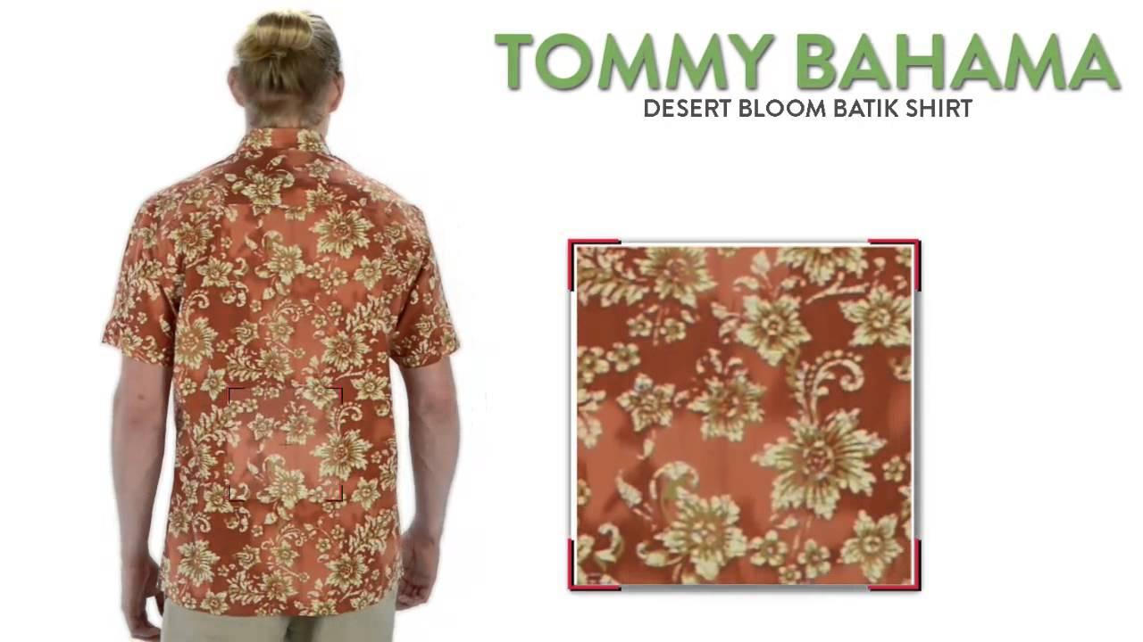Tommy bahama desert bloom batik shirt silk cotton short for Men s batik bay silk blend button down shirt