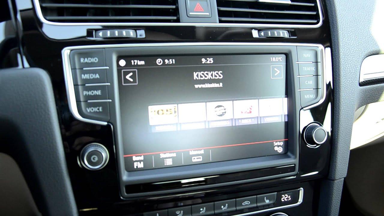 volkswagen golf mk7 touchscreen media system in car youtube. Black Bedroom Furniture Sets. Home Design Ideas
