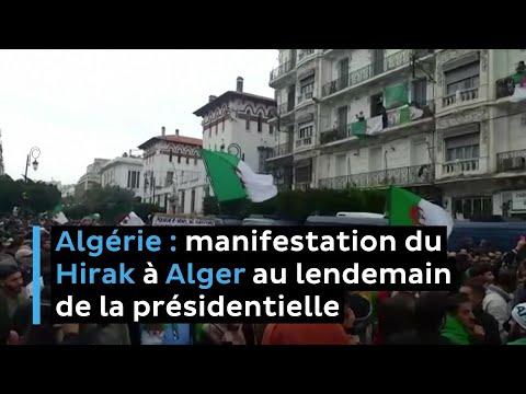 Algérie - Manifestation du Hirak à Alger au lendemain de l'élection présidentielle