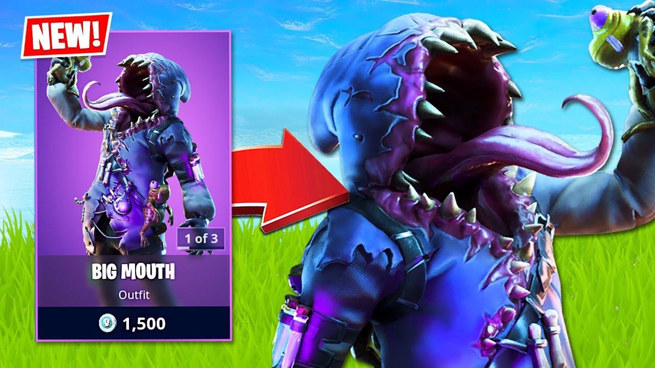 New Big Mouth Skin Fortnite Battle Royale Youtube