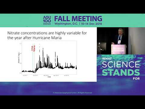 2018 Fall Meeting Press Conference: Puerto Rico one year later: Hurricane Maria's lasting footprint
