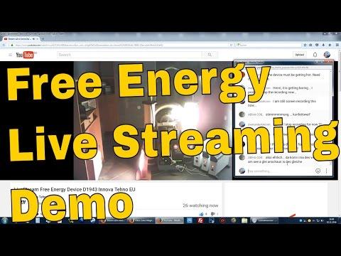 Free Energy Generator Innova Tehu Live Streaming Demo Part 1