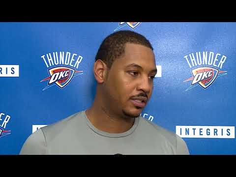 Carmelo Anthony Interview After Practice