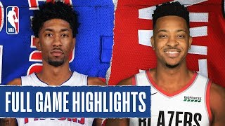 PISTONS at TRAIL BLAZERS | FULL GAME HIGHLIGHTS | February 23, 2020
