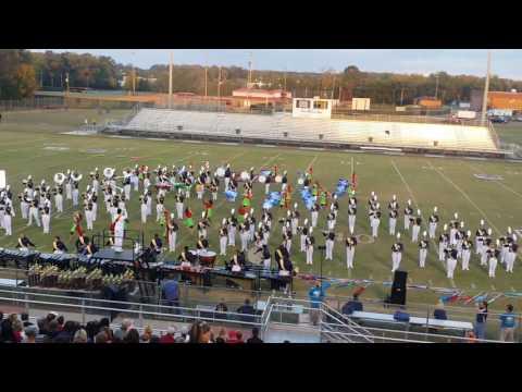 Buckhorn High School Marching Band on October 1, 2016 in Boaz, Alabama