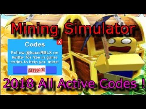 Mining Simulator All Codes 2018 Roblox Youtube