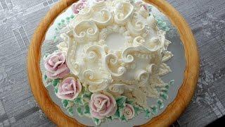 УКРАШЕНИЕ ТОРТОВ- Небольшой Свадебный тортик, Cake decoration