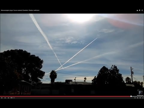 Metereorologists lying to Tucson residents! Chemtrails / Weather modification