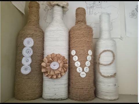 DIY – Trang trí lọ thủy tinh bằng dây thừng đơn giản