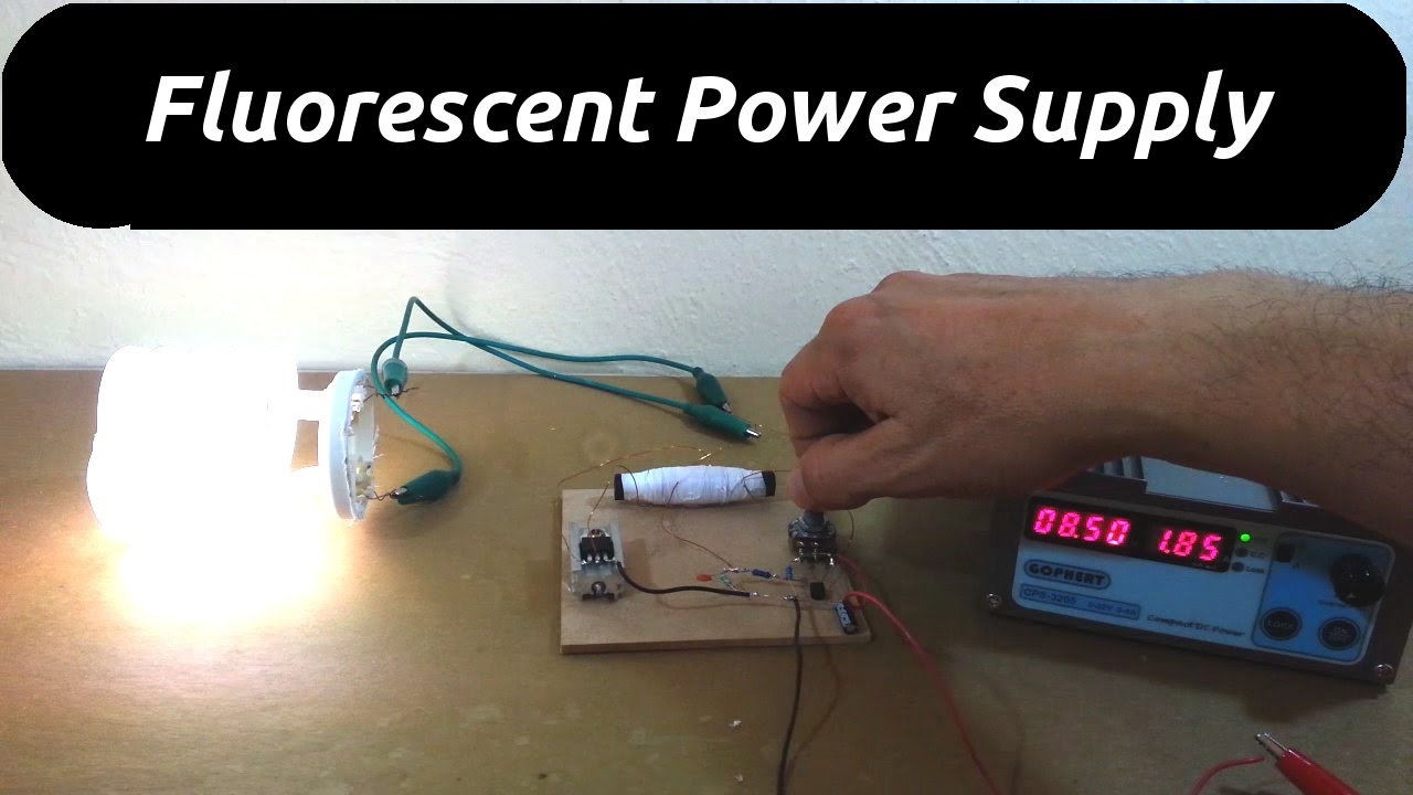How To Make A Simple Inverter For Fluorescent Lamps Youtube Wiring Pendaflour Lamp