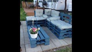 Comment Faire Facilement Un Canapé Chaise-longue En Utilisant Des Palettes Entières