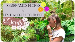 Sembramos flores y hacemos tour por el jardín! || VIVIENDO EN EL BOSQUE || De Nova con Amor