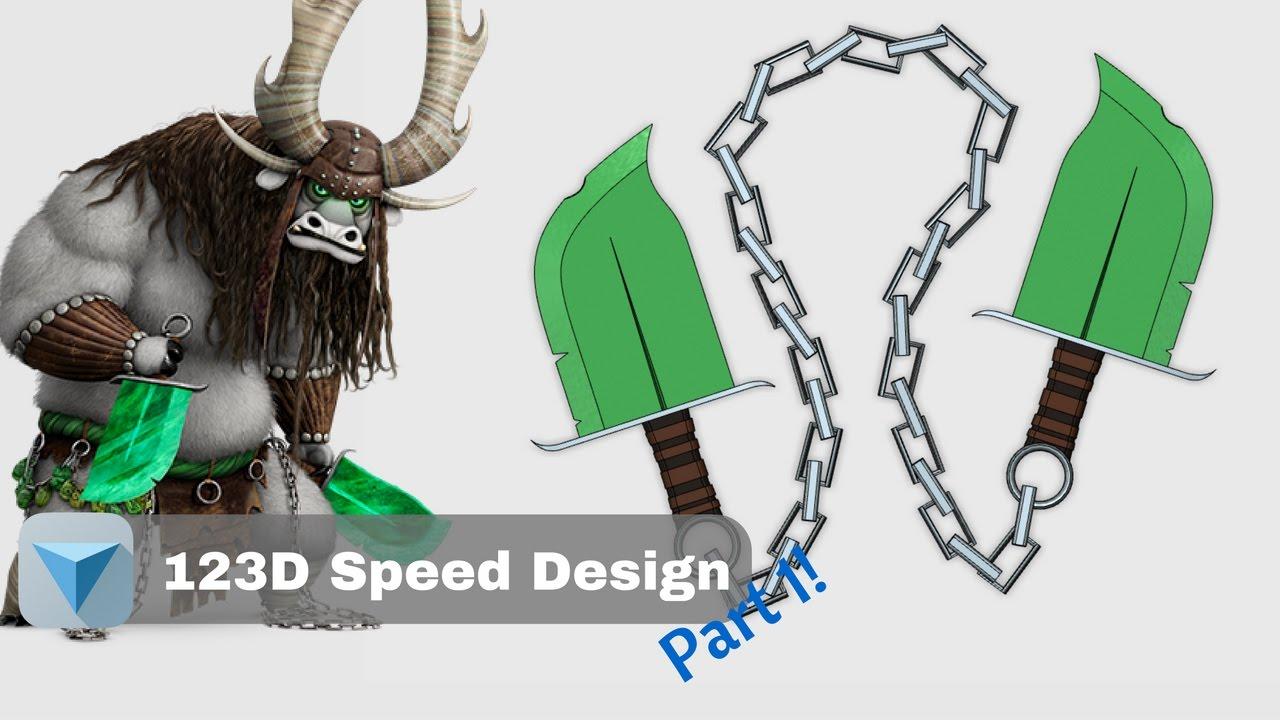 Kung Fu Panda 3 Kai S Chain Swords Part 1 123d Speed Design Youtube