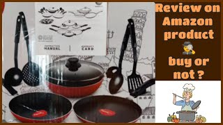 kitchen utensils purchase from Amazon pigeon non-stick kitchen utensils Review sumantishyao1
