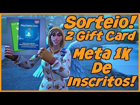 Fortnite Sorteio De 2 Gift Cards! Meta 1K De Inscritos !