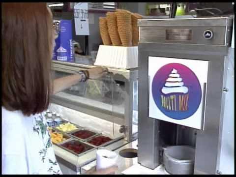 Frozen yogurt Blender / ice cream Multi-Mix machine - YouTube