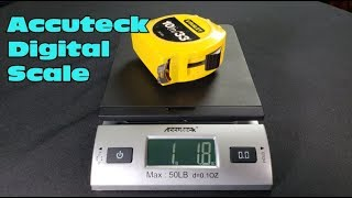 Accuteck Digital Postal Scale - Model W-8250-50BS review and test